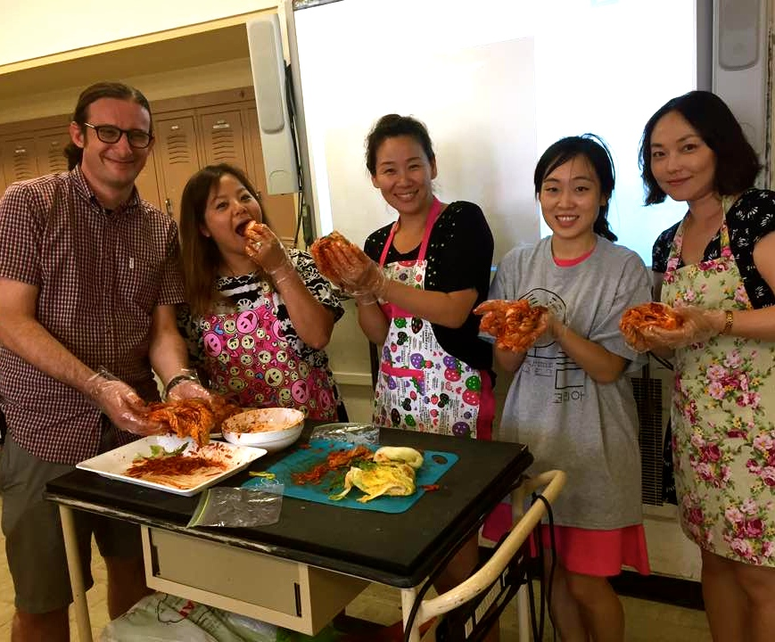 East-West Culinary Instructors, from l to r: Mr. Kleiman, Mrs. Choi, Mrs. K. Kim, Ms. P. Kim, Ms. An