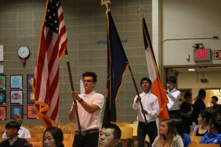 Color Guards: Mason Cuza, Jingbian Ouyang, Alexis Tendilla