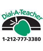 dial-a-teacher logo with phone number