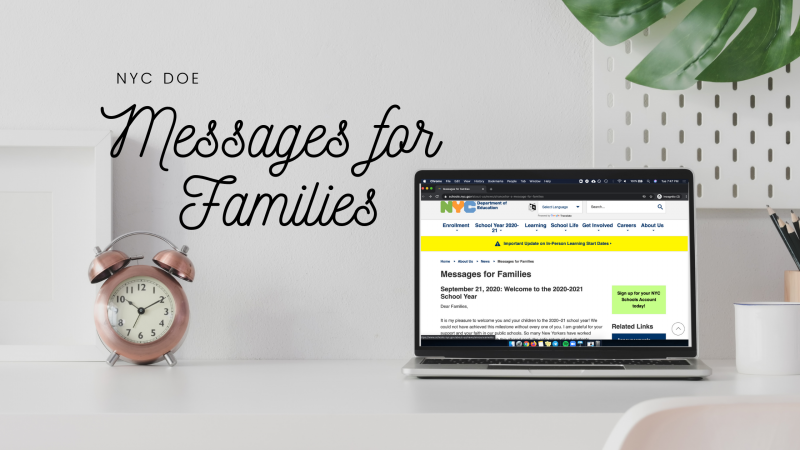 NYC DOE Messages for Families